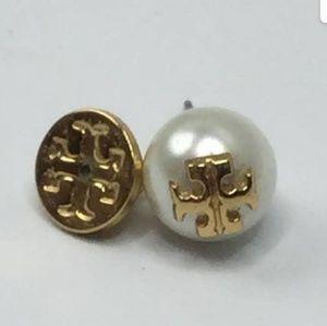 💓Tory Burch Large Pearl Earrings